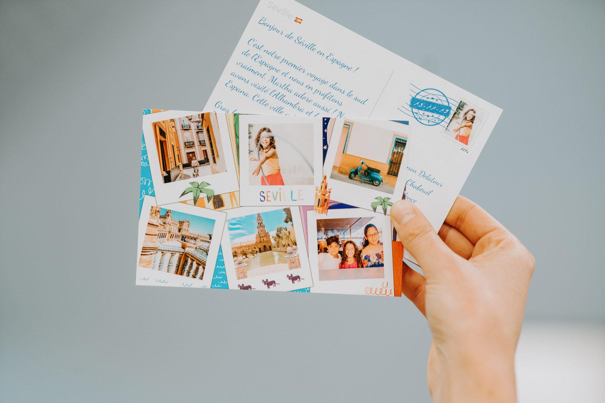 carte postale personnalisee barcelone