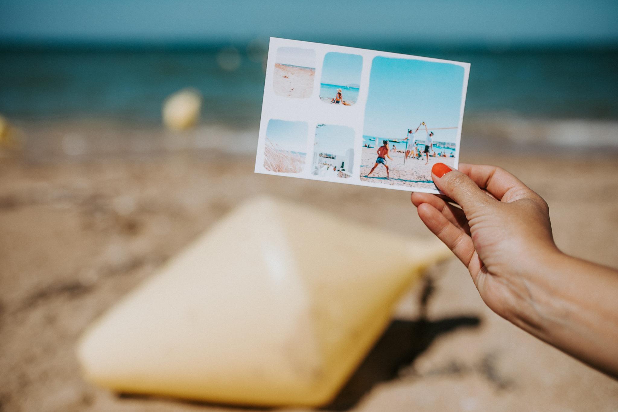 carte postale pays basque plage