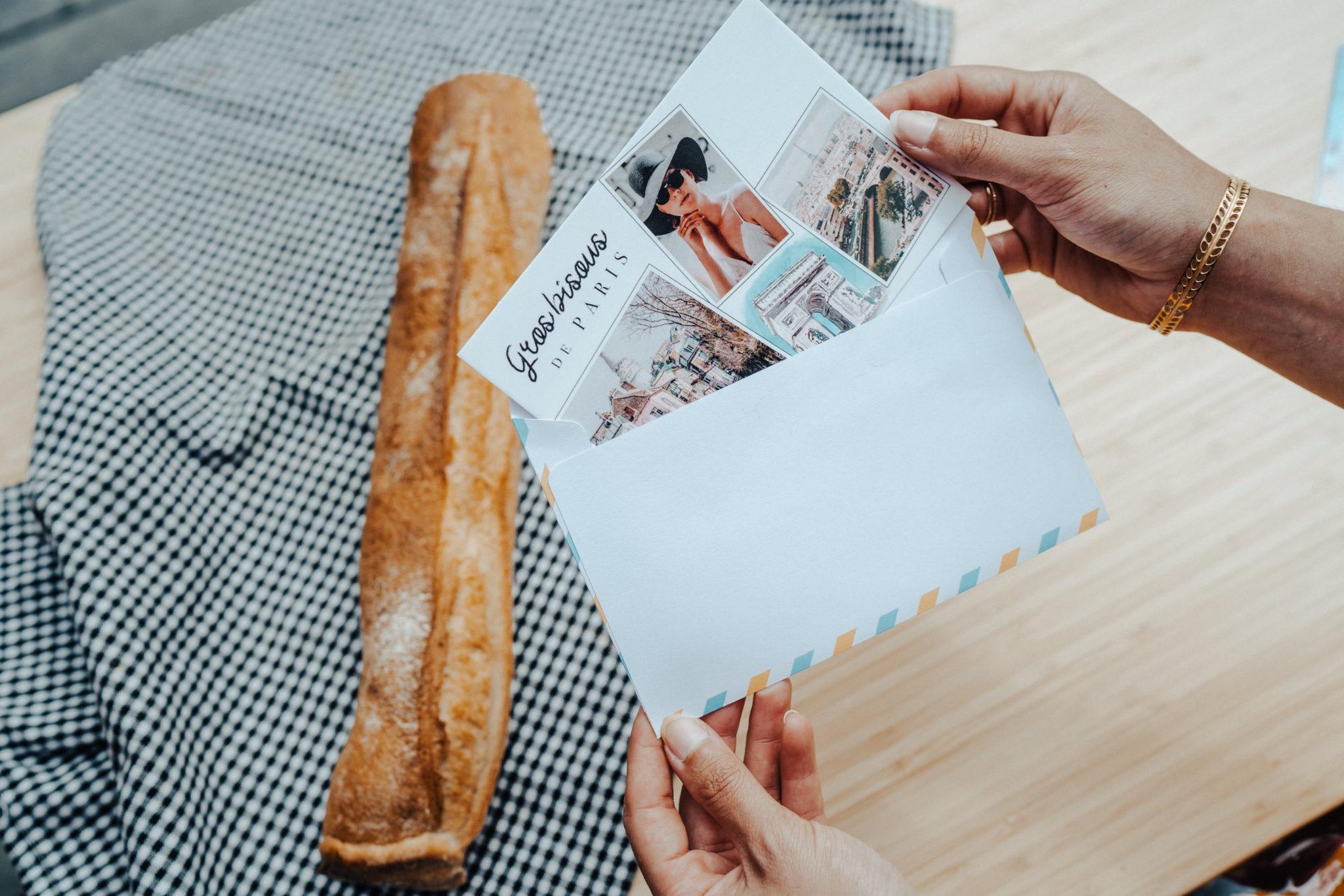 carte postale paris baguette