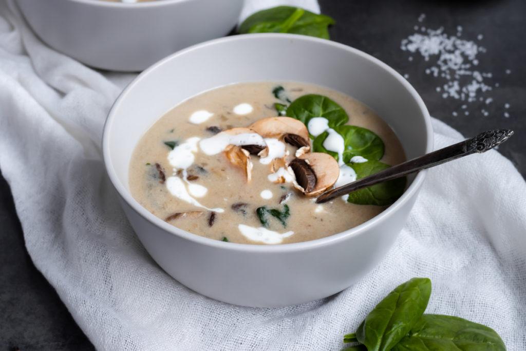 Recette automne soupe aux cepes et noisettes