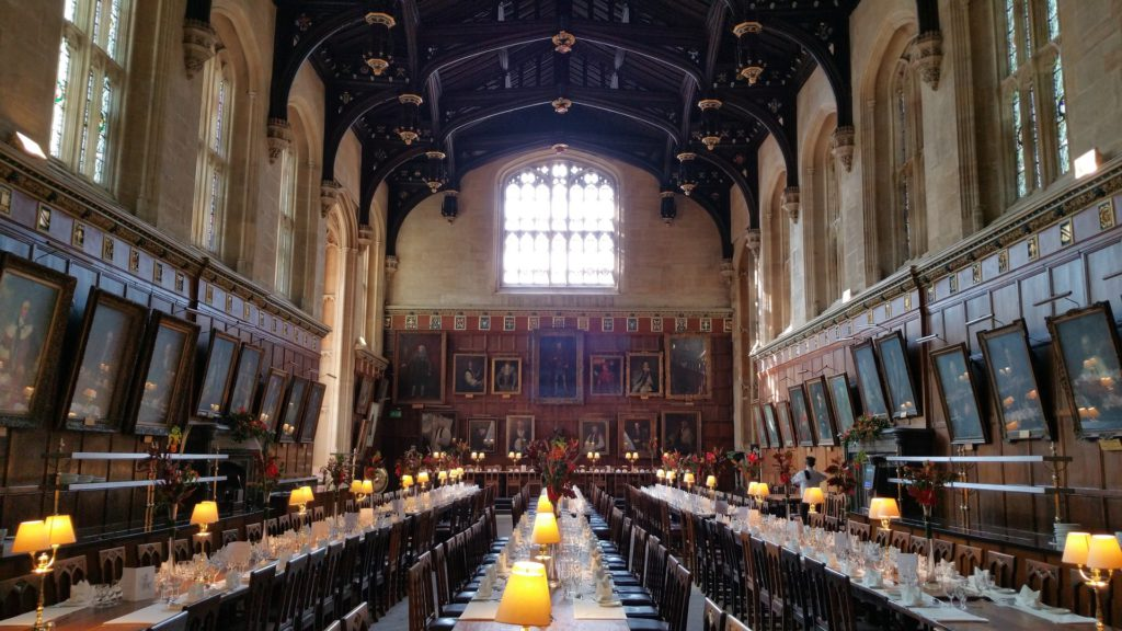 refectoire salle harry potter universite oxford