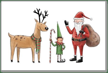 Renne Lutin et Père Noël