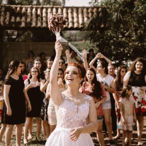Lancer de bouquet remerciements de mariage