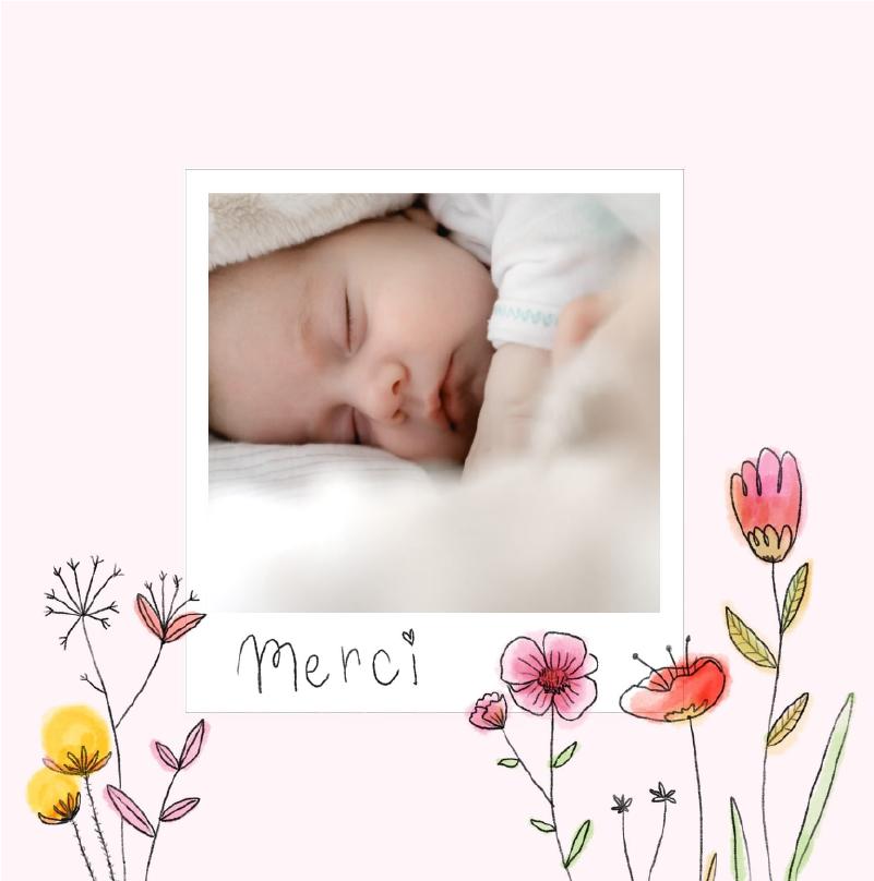 carte naissance merci fleurs des champs