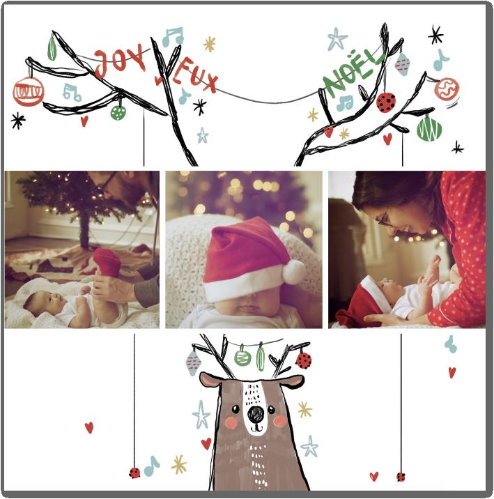 Renne de Noël, histoire à partager sur vos cartes de Noël