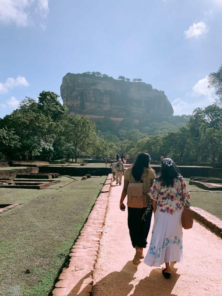Rocher au Lion à Sigiriya au Sri Lanka