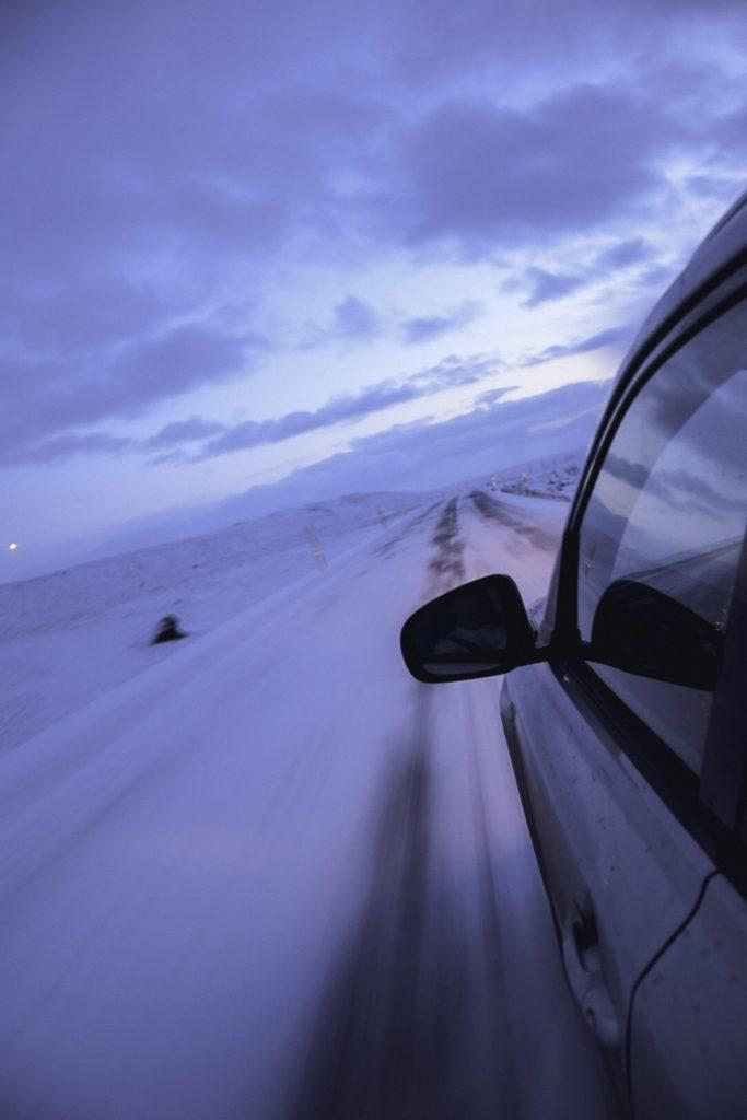 route enneigée islande