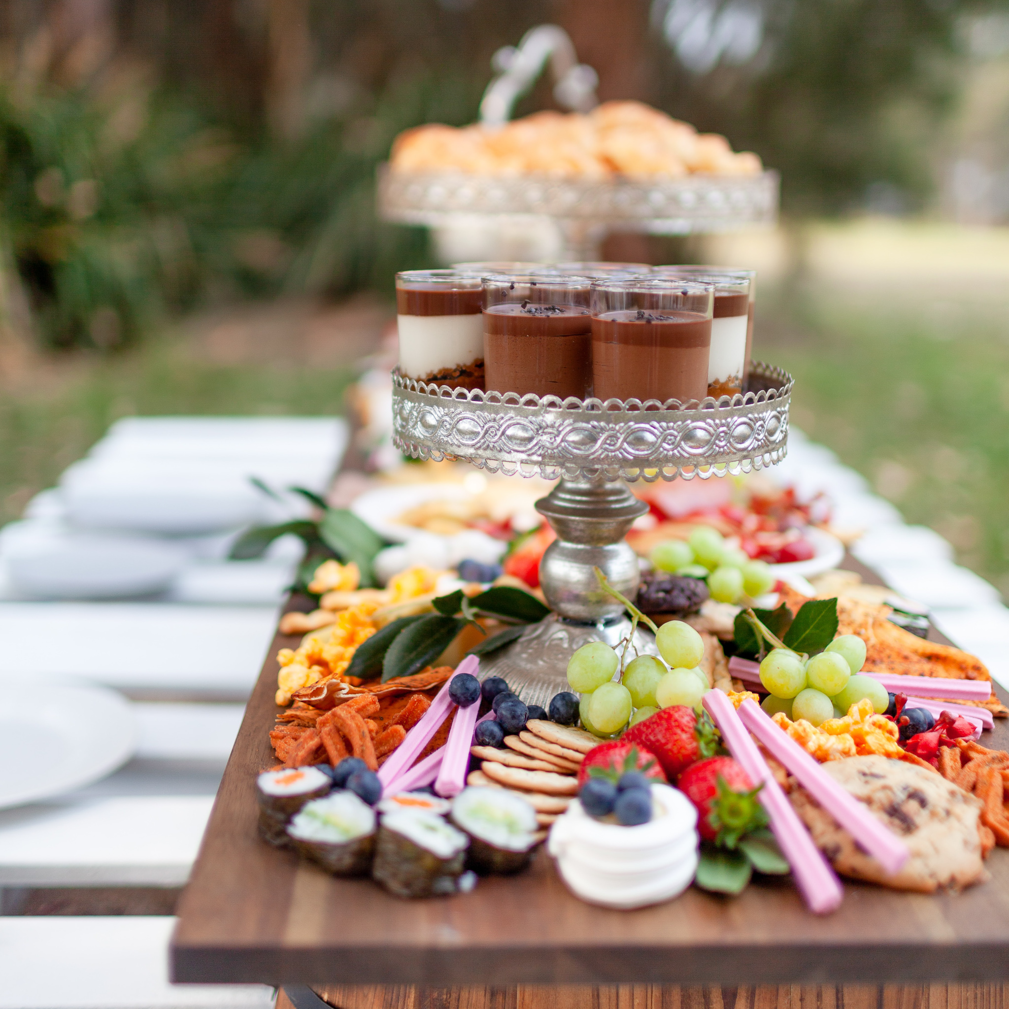 fresh and local country wedding meal