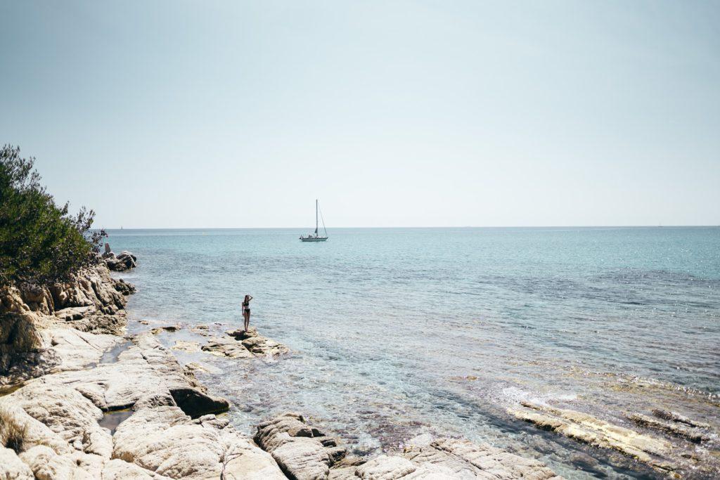 plage de Saint-Tropez pour vacances d'ete en France