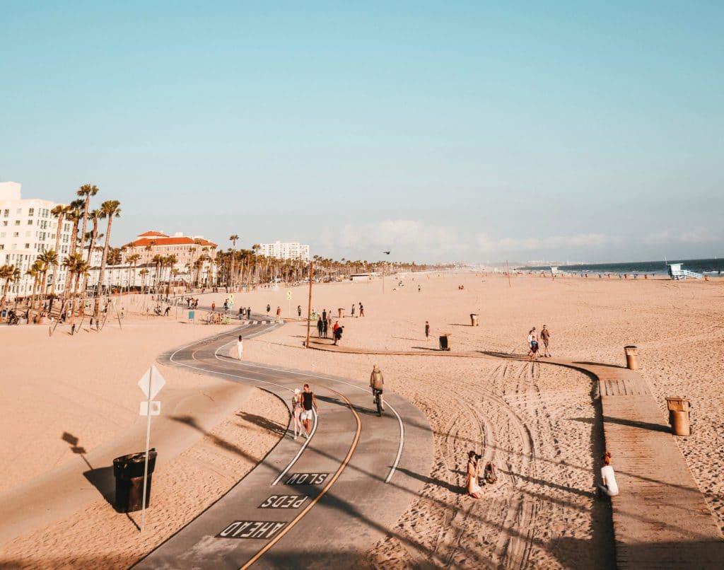 vue sur la plage de santa monica