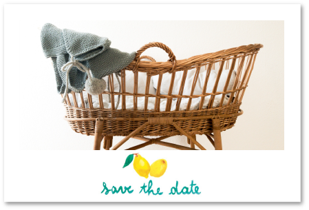 Save the Date citrons pour baby shower