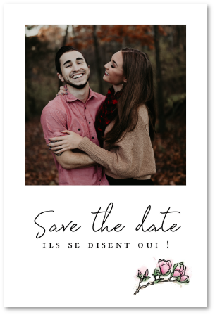 save the date mariage ils se disent oui