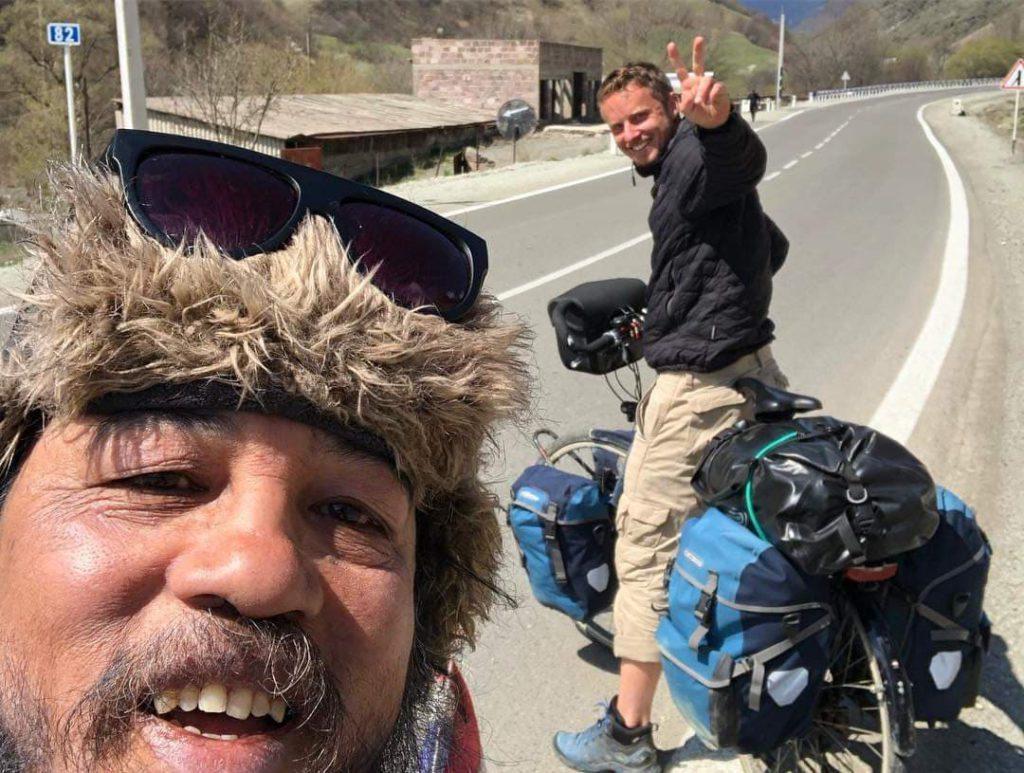 selfie à vélo