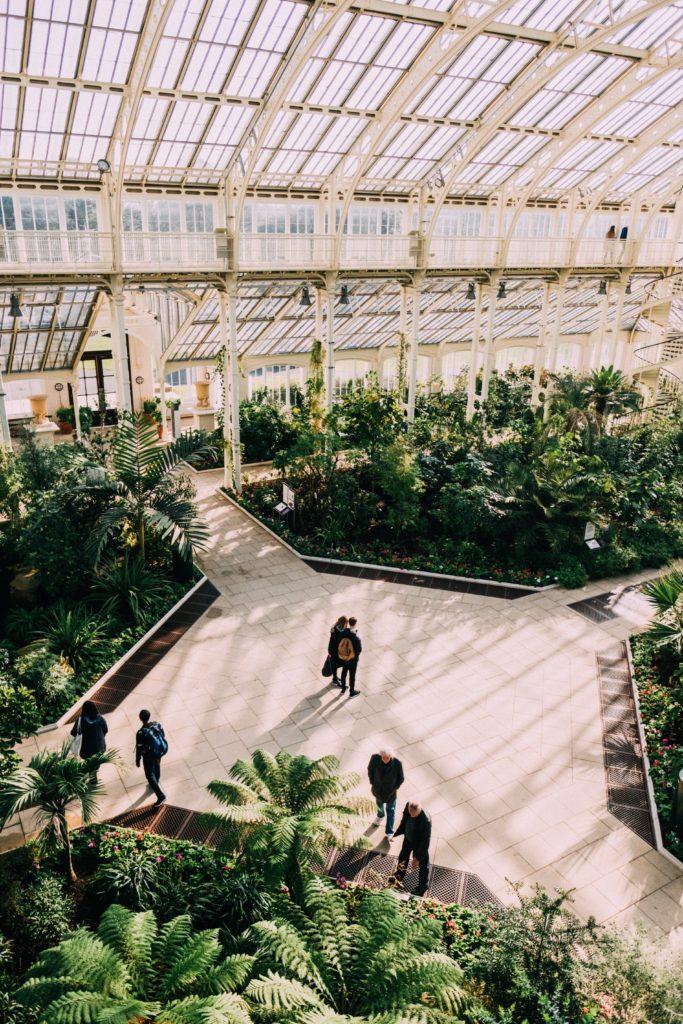 Vue en hauteur de la serre de Kew Gardens