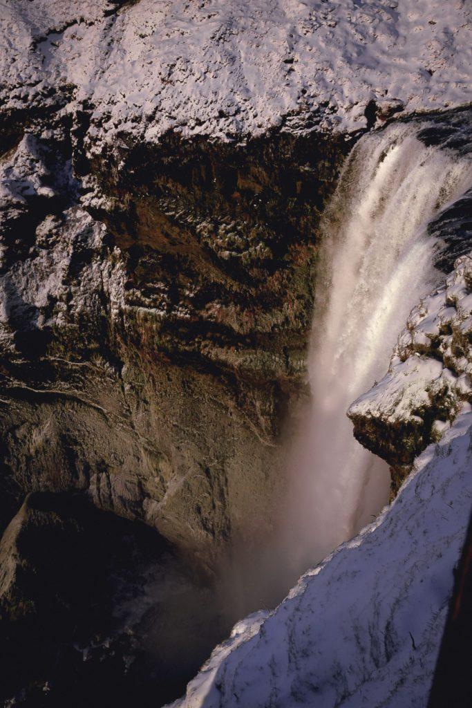 Vue hauteur Skogafoss Islande