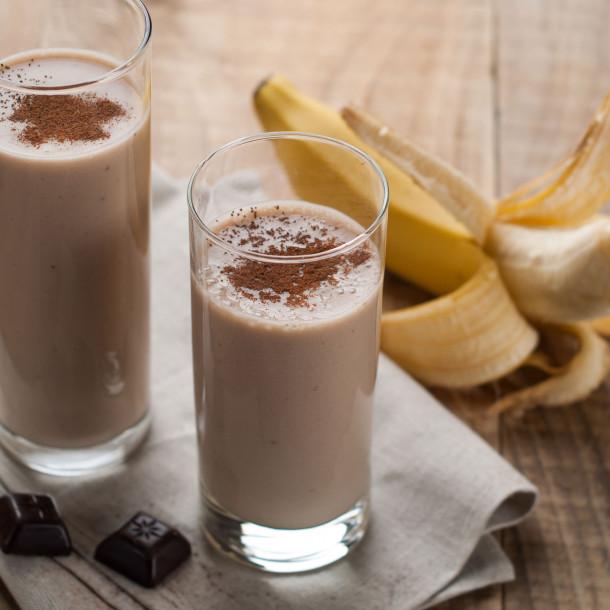 smoothie café chocolat banane