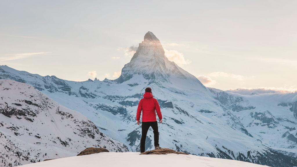 Photo ski sommet montagne
