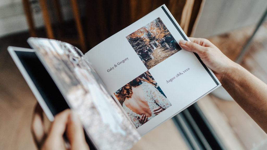 Album photo souvenirs de mariage