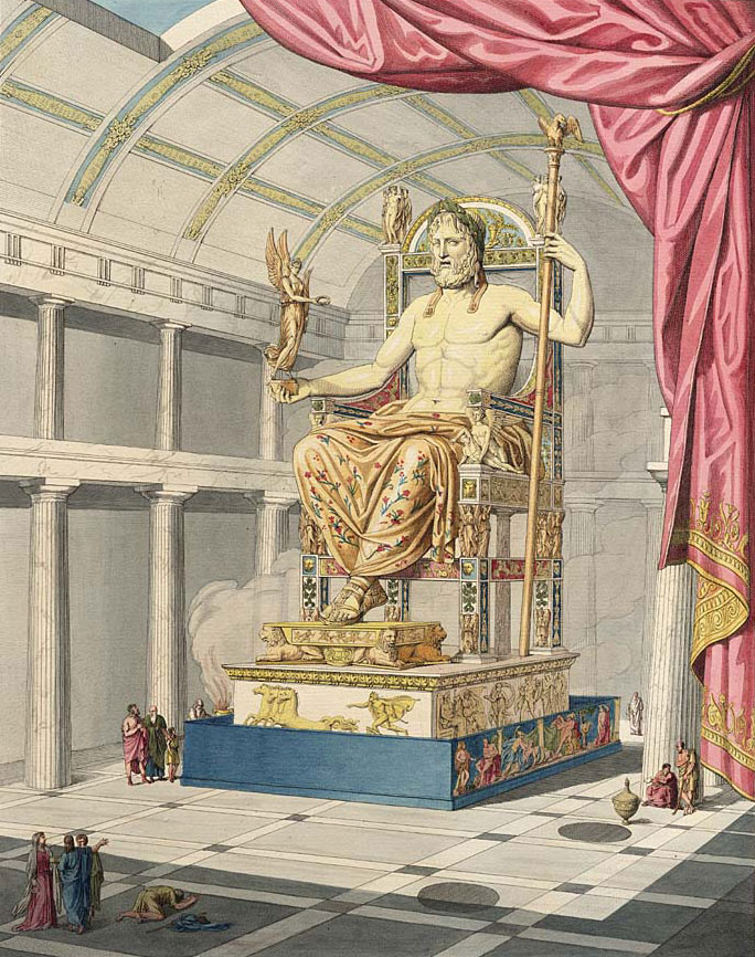 Statue de Zeus a Olympie