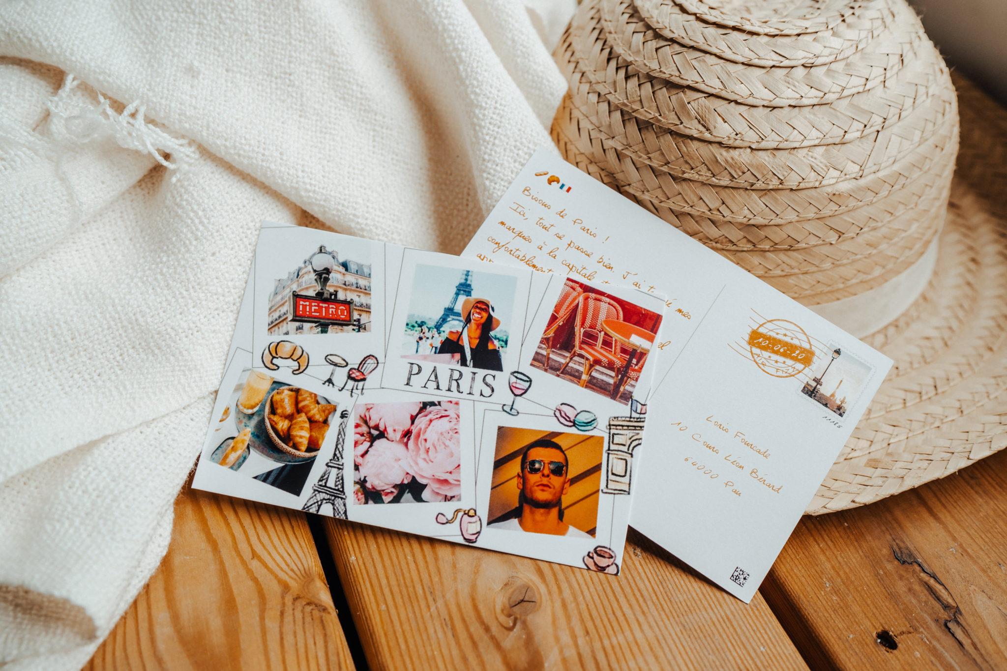carte postale paris vacances ete