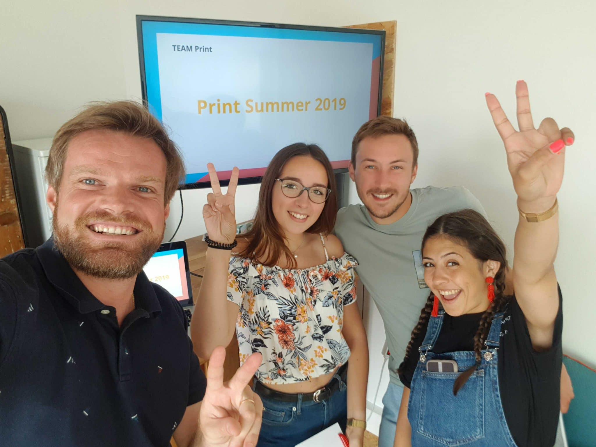 Team Print qui imprime vos cartes postales ete 2019 Fizzer