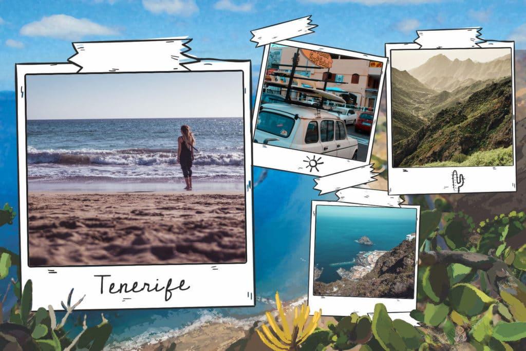 Carte postale de Tenerife, Canaries, Espagne
