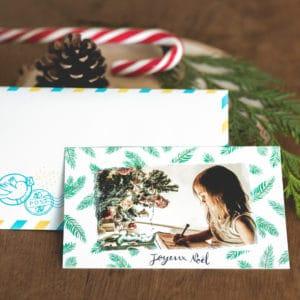 Texte carte Noël et enveloppe Fizzer