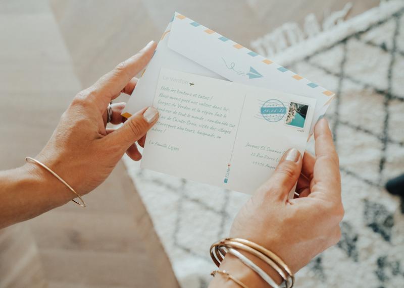 Texte au dos dune carte postale Marseille