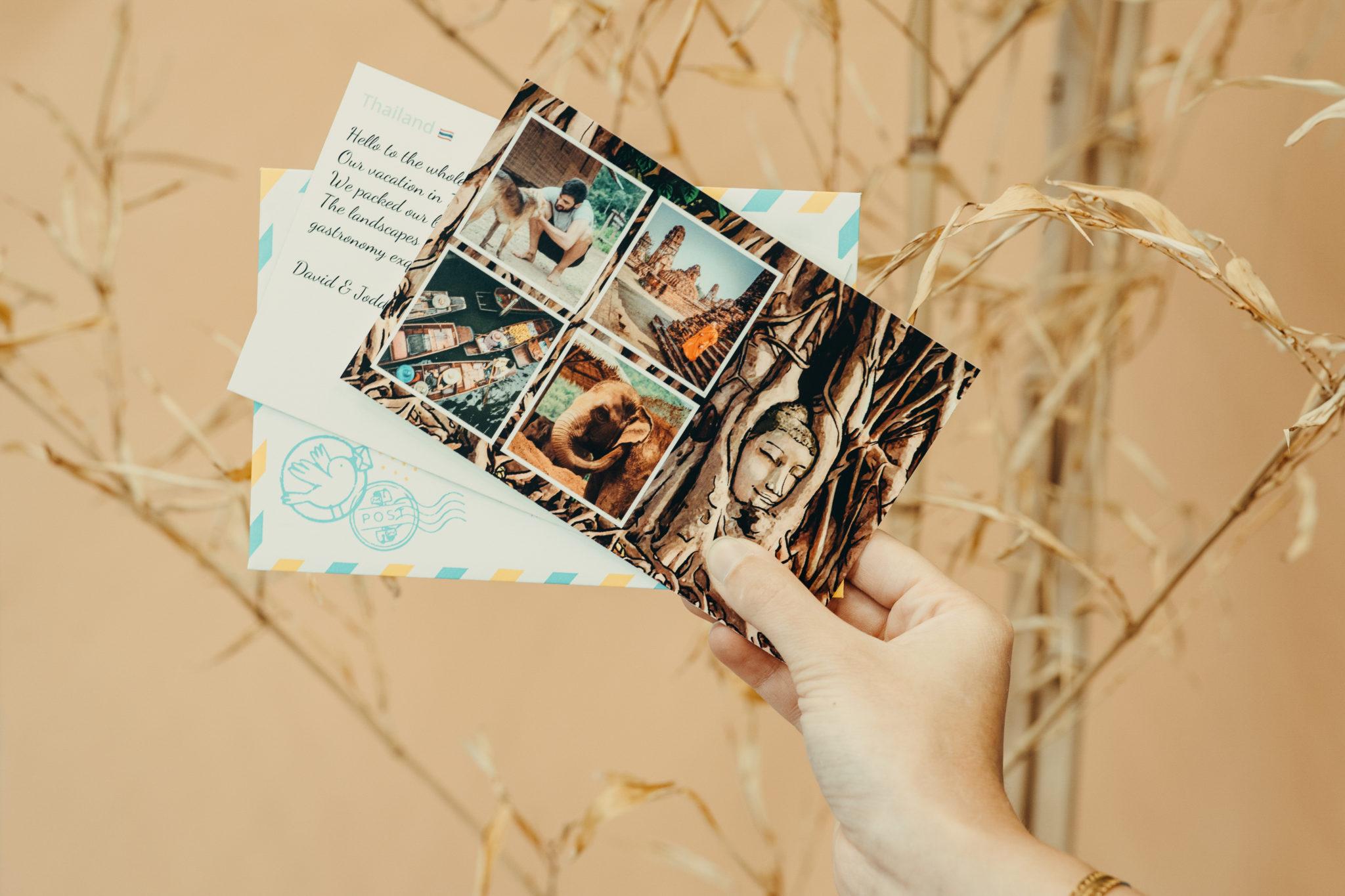 carte postale thailande
