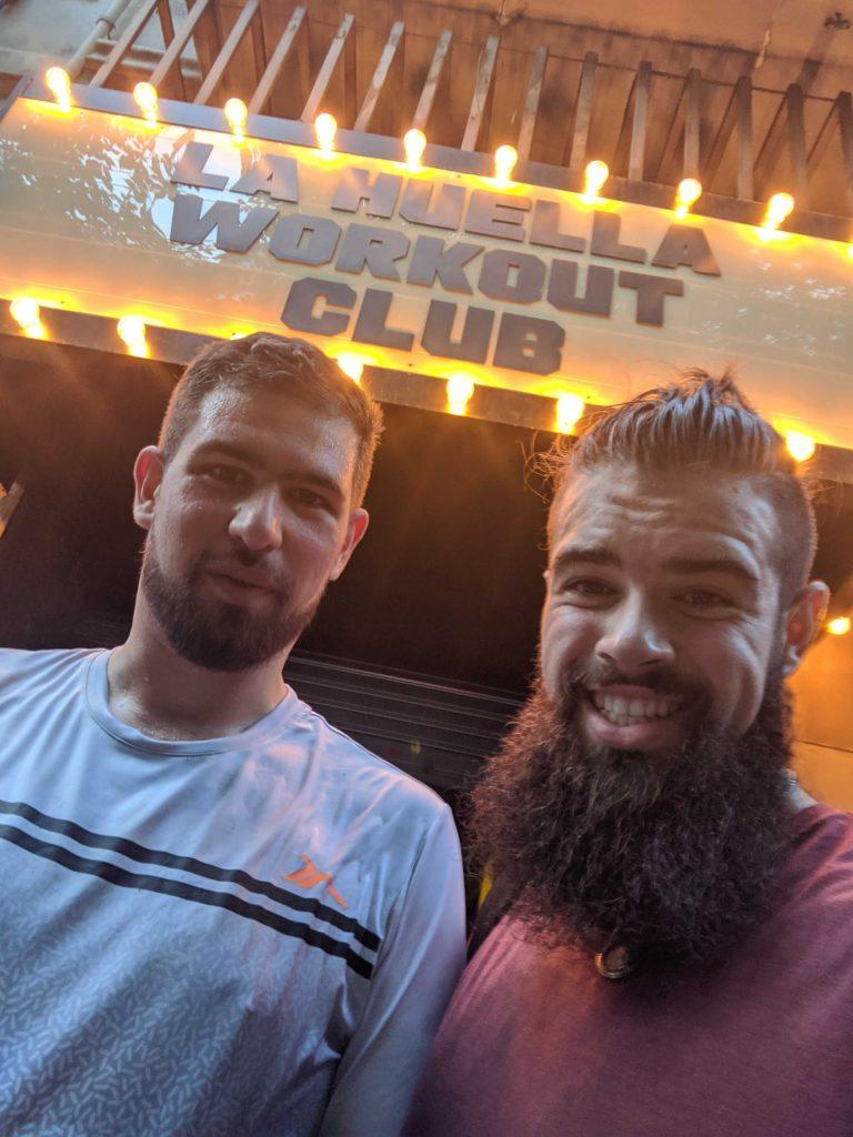 Thibault et Marco au crossfit Barcelone