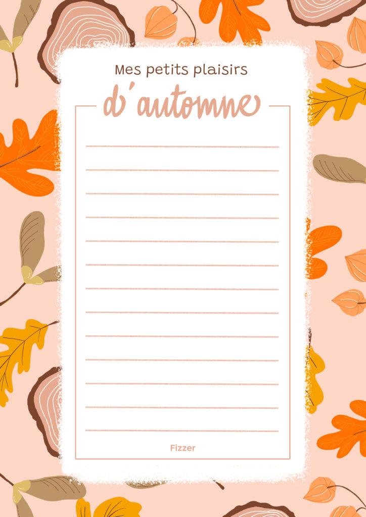 To Do List Automne a imprimer avec feuilles d'automne