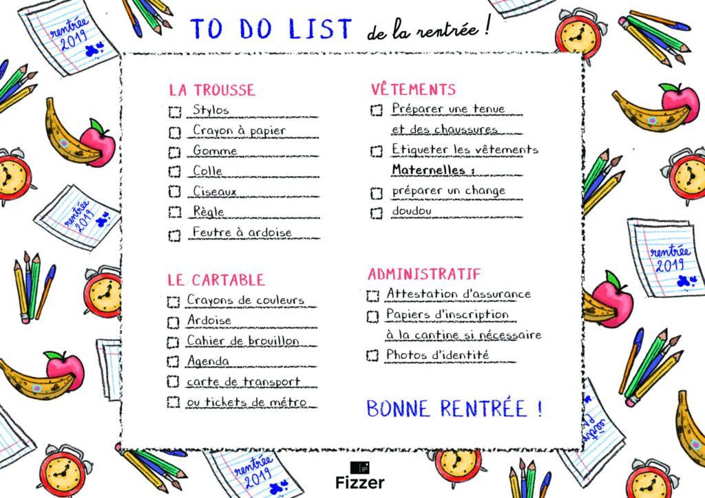 To-do list pré-remplie pour les parents