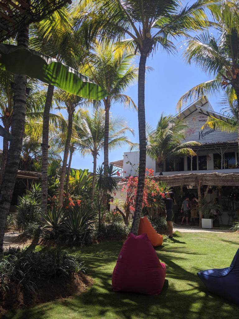 Jardin du coworking Tropical Nomad à Canggu Bali