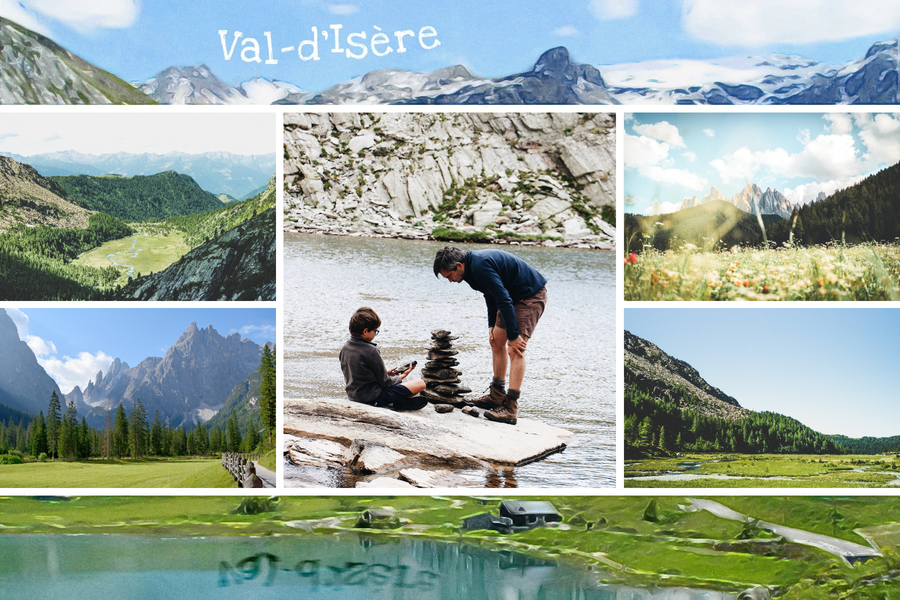 carte postale val isere