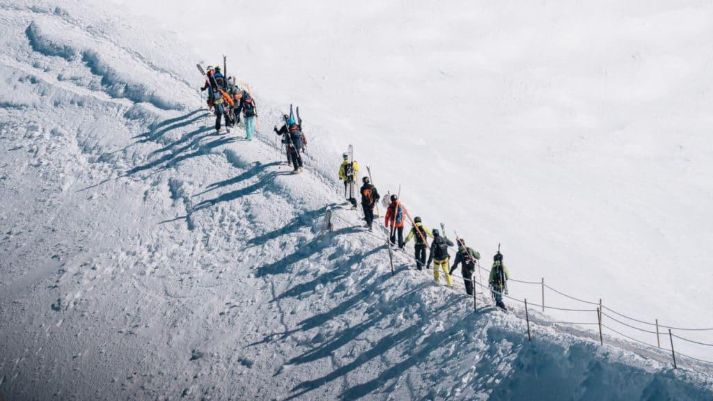 Descente Grand Envers Aiguille du Midi