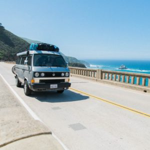 Road trip en van, transport original pour voyager