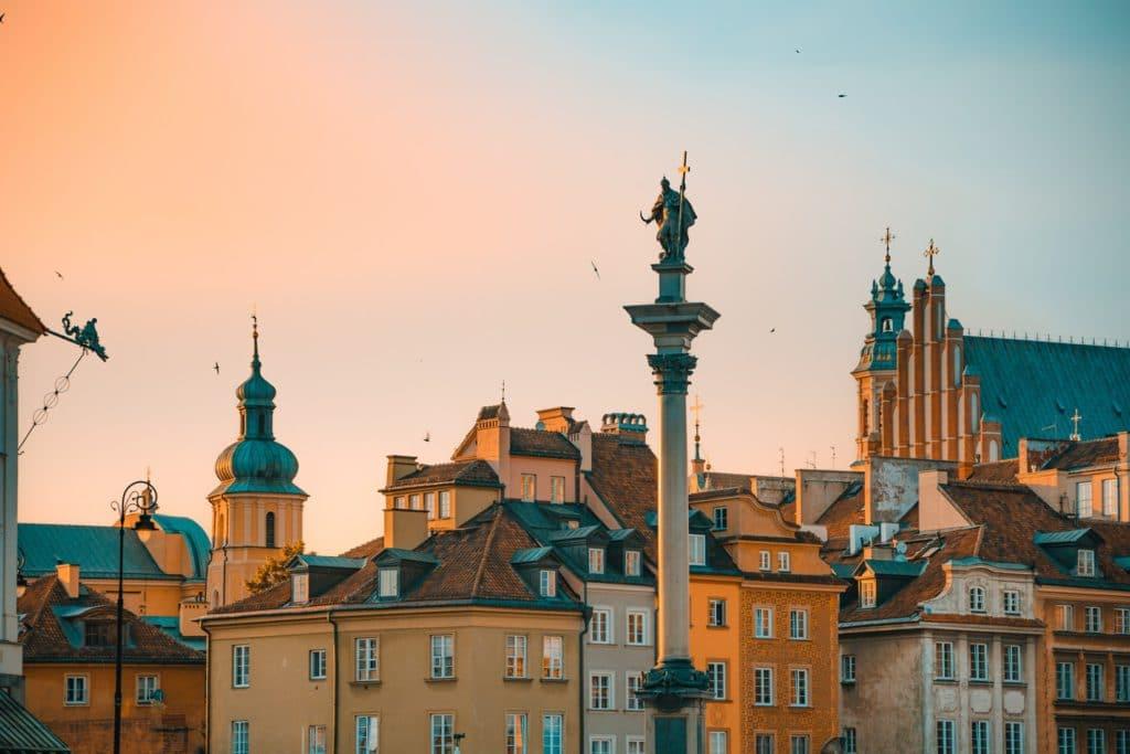 Toits de Varsovie en Pologne