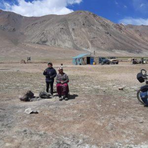 Voyage a velo de Jeremy, son velo en Mongolie