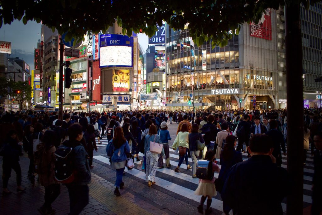 passage pieton tokyo japon