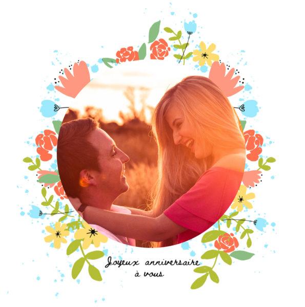 carte fleurie pour anniversaire de mariage