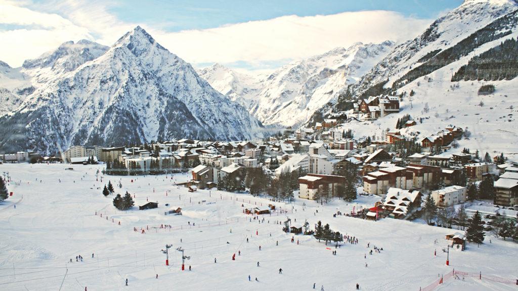 Photo vue station de ski Les 2 Alpes