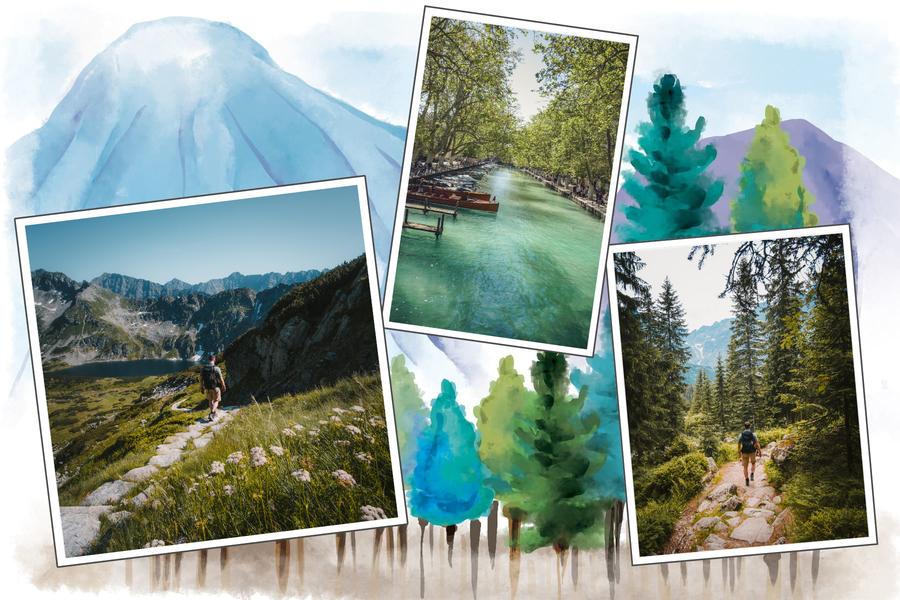 carte postale aquarelle suisse