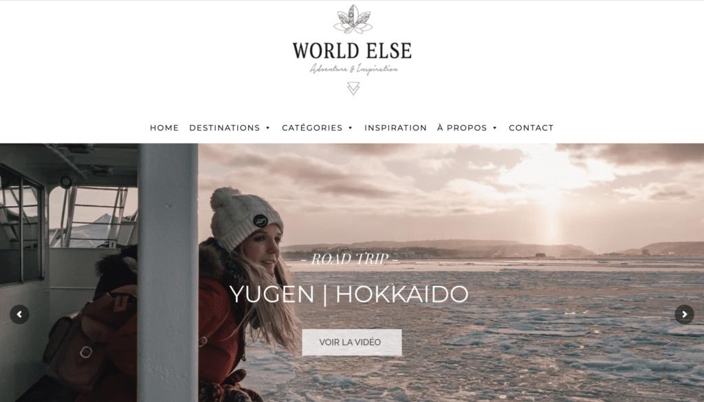 Accueil du blog voyage World Else